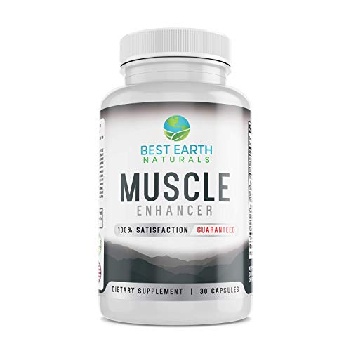 Muscle Enhancer - Muscle Building Supplement Made with Tribulus Terretris, DHEA, Tongkat Ali Root Powder, 5-Methyl-7-Methoxy-Isoflavone, Alpha Lipoic Acid, Rhodiola & More by Best Earth Naturals!