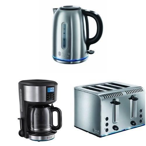 Russell Hobbs Buckingham Quiet Boil 1.7 L 3000 W Kettle 20460 - Brushed Stainless...