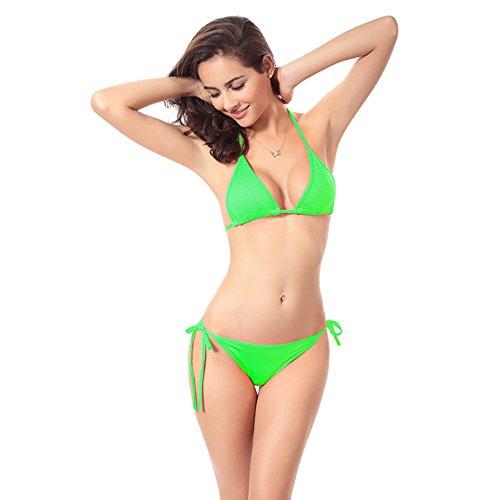 Set SHOP STORY-1-Trans-bronzant Sexy Bikini, da donna, taglia unica, colore: verde
