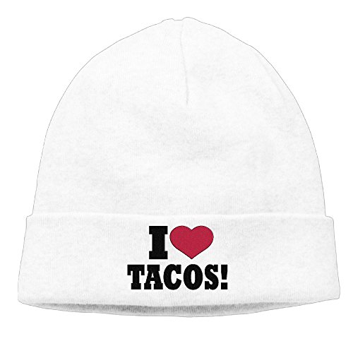 PWLLS Unisex I Love Tacos Novelty Slouchy Beanie Watch Cap Smart Cap Fashion For Outdoor & Home