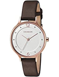 Skagen Womens SKW2472 Anita Dark Brown Leather Watch