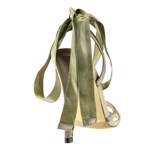 Aguja Moda Mujer Elegante Verde Nodo 11 Escarpín Talón Sexy Alto Zapatillas Angkorly Sandalias Tacón Cm Stiletto De qCBU7B