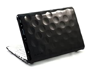 Hard Candy Cases Bubble Shell Case for Asus EEE PC 1005HA Netbook, Black, (BS-ASUS-BLK)