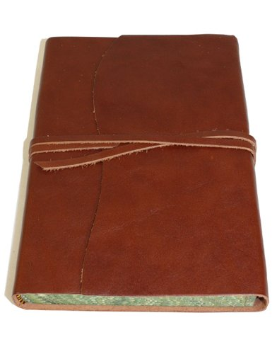 Roma Luxury Brown Italian Leather Journal with Marble edged Paper - 14 x 21 - Journal Italian Leather Edged