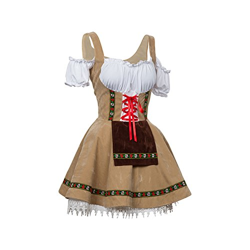 Women's Oktoberfest Fraulein Costume Halloween Cosplay Costume(Not US size.Choose 2 size larger please) - Womens Plus Size Oktoberfest Fraulein Costumes