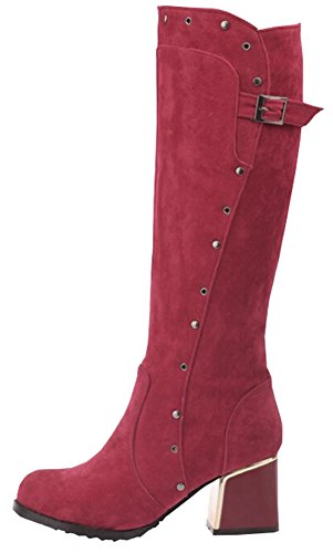 shoes New trend fashion Martin Nubuck boots knight Red boots boots wwx0n7r