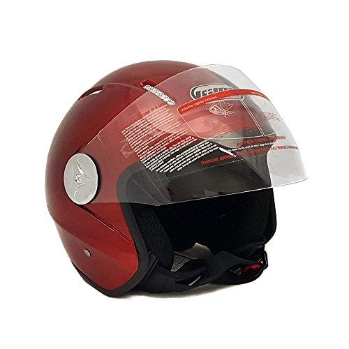 Burgundy Motorcycle Helmet - 2