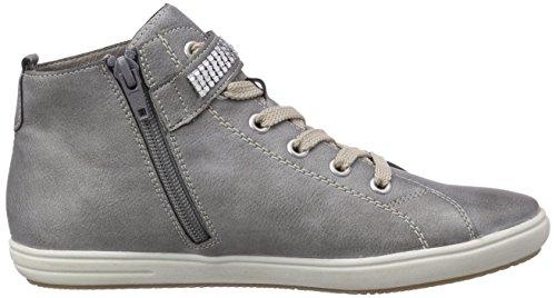Rieker Kinder K3080 Mädchen Hohe Sneakers Grau (grey/staub/Argento / 40)