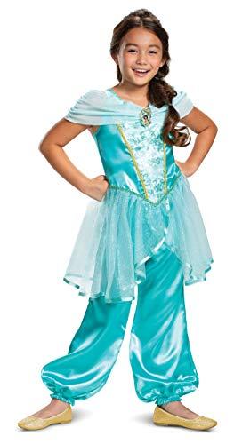 Jasmine Classic Disney Princess Girls Costume Teal -