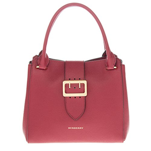 Burberry Women's The Medium Buckle Tote in Grainy Red