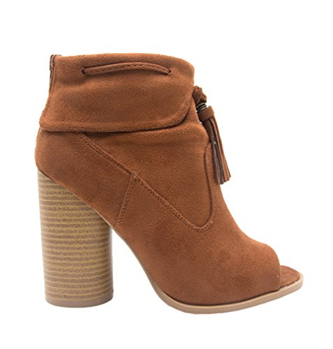 Donne Cut-out Bootie Lace Up Slip On Piattaforma Tacco Alto Zeppa Stivaletto Baule Chest-ii