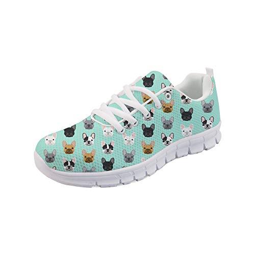 Sport Up Lace Fashion Running Bulldog Women Showudesigns Galaxy Printing Sneaker Shoes Ygwq55E