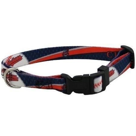 Hunter Mfg Cleveland Indians Adjustable Dog / Pet Training Collar - Medium
