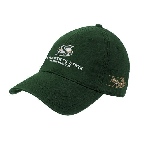 Sacramento State Dark Green Twill Unstructured Low Profile Hat