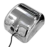 Oeyal Automatic Electric Hand Dryer 1800Watts Heavy Duty Commercial Hand Dryers Super Quiet High Speed 95m/s, Silver, Instant Heat & Dry 304 Stainlless Steel Cover -110V