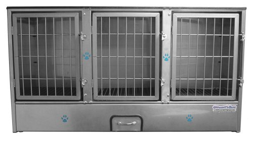 Groomer's Best 3-Unit Cage Bank