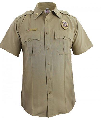 First Class 100% Polyester Short Sleeve Zippered Uniform Shirt 2XL Tan