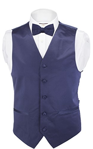 Alberto Cardinali Men's Solid Color Vest - Navy Blue Dress Vest Shopping Results