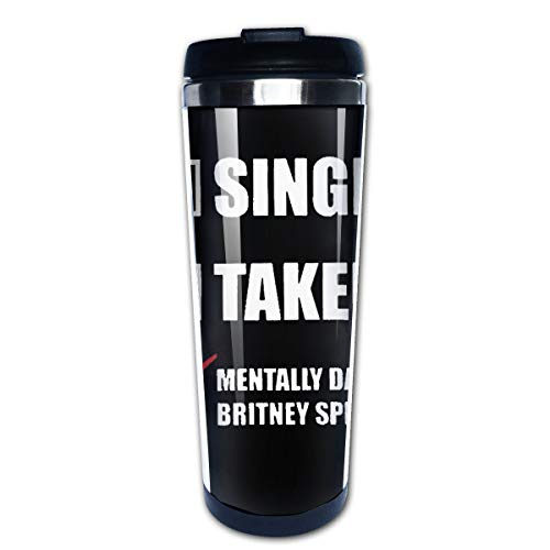 (Mentally Dating Britney Spears Freddie Mercury Autograph 304 Stainless Steel Liner Travel Coffee Mug Water Bottle Portable Thermos Vacuum Flask)