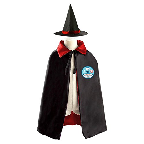 ASD JKL Octonauts Logo Emblem Customized Printing Double-Faced Children Cloak Cape Robe With Matching Witch Hat (Octonauts Halloween)