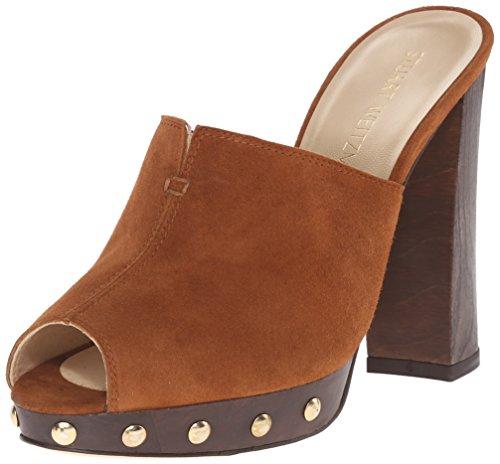 Stuart Weitzman Women's Zueco Platform Sandal, Amaretto, 9 M US