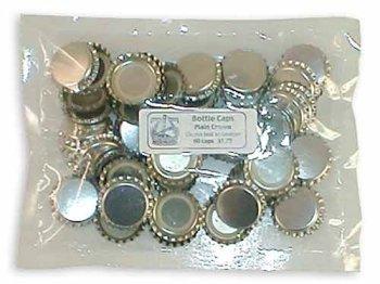 Gold Crown Bottle Caps (1 gross, 144 caps)