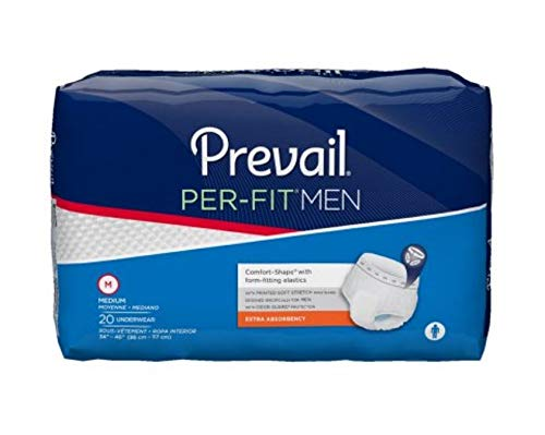 (Prevail Per-Fit Extra Absorbency Incontinence Underwear for Men, Medium, 80-Count)