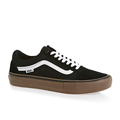 Herren Gomme Skool Noir Skateschuhe Pro Old Skateschuh Camionnettes Moyenne Blanc Odqf8T