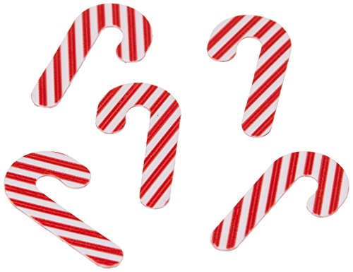Creative Converting Shaped Confetti, Candy Cane, Red/White, Red/White
