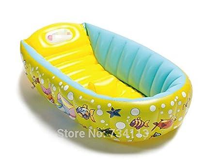 Cyhione Bañera Inflable Portable Piscina Bañera para Bebés 0-3 Años Niños Bañera Inflable Portátil
