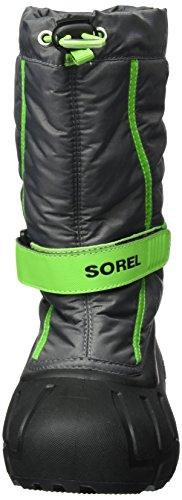 Sorel Youth Flurry, Unisex-Kinder Schneestiefel Grau (Quarry/cyber Green)