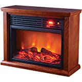 ProFusion Heat Infrared Electric Fireplace 5118 BTU, Oak Finish, Model# GDIFP-1500R