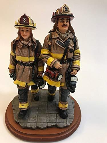 1997 Vanmark Red Hat's of Courage Team Effort Firefighter Figurine