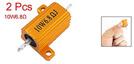 Uxcell a11070400ux0076 Screw Tabs 5/% 6.8 Ohm 10W Aluminum Wire Wound Resistor 2 Piece