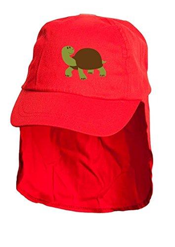 Enfants Rouge Soleil Tortue Style Légionnaire Bonnet. Taille unique.