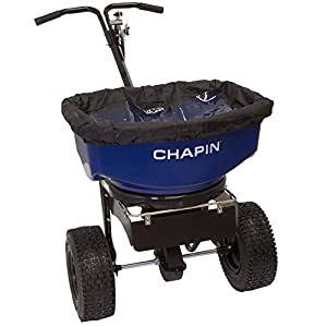 Chapin 82088 80-Pound Professional Sure Spread Salt and Ice Melt Spreader with Baffles