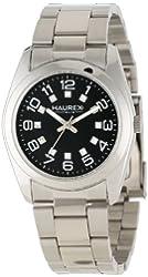 Haurex Italy Women's 2A388DNN Narciso Round Stainless Steel Black Dial Swarovski Watch