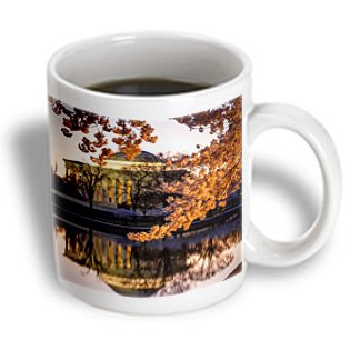 mug_189549 Danita Delimont - Brian Jannsen - Memorials - Cherry blossoms and the Jefferson Memorial at dawn, Washington DC, USA - Mugs