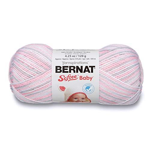 (Bernat Softee Baby Yarn, Ombre, 4.25 oz, Gauge 3 Light, Pink)