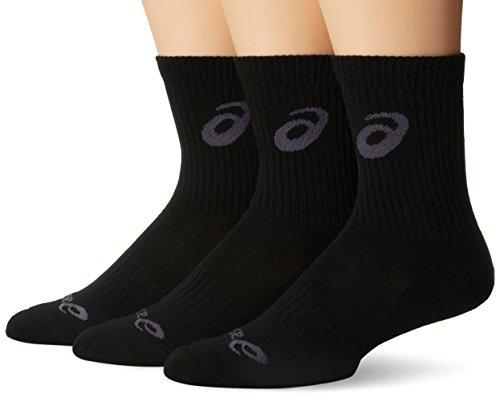 ASICS Contend Crew Socks, Black, Small