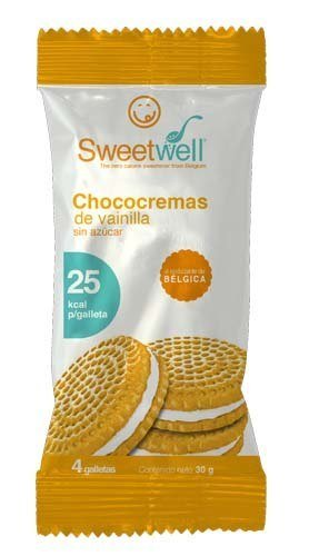 Sweetwell Sugar Free Sandwich Cookies, Vanilla - 56 units (14 bags of 4 units).: Amazon.com: Grocery & Gourmet Food