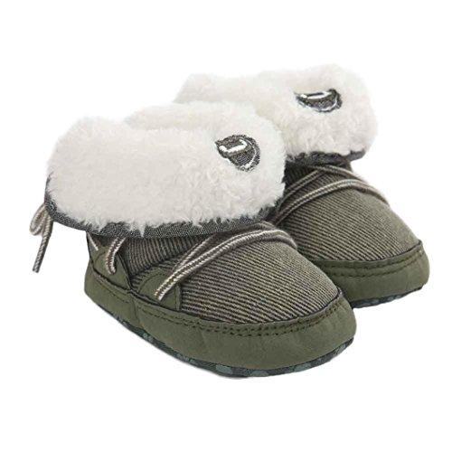 Omiky® Baby Junge Lauflernschuhe Junge Lauflernschuhe Krabbelschuhe Babyschuhe in verschiedenen Farben Weiche Sohle Stiefel Grün