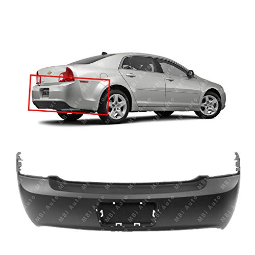 MBI AUTO - Primered, Rear Bumper Cover Replacement for 2008-2012 Chevy Malibu 08-12, GM1100816