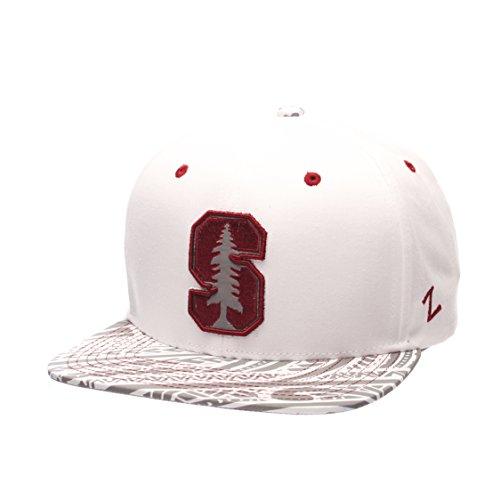 NCAA Stanford Cardinal Men's Lahaina Snapback Cap, Adjustable Size, White