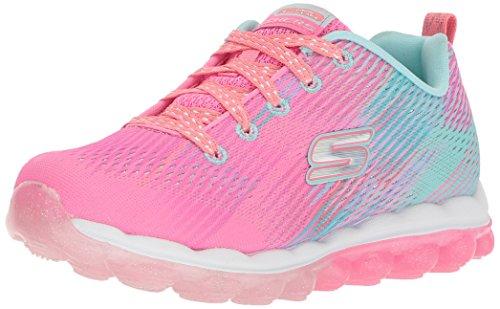 Skechers Kids Girls' Skech-Air-Bounce N'Bop Sneaker,pink/multi, 4 Medium US Big Kid ()