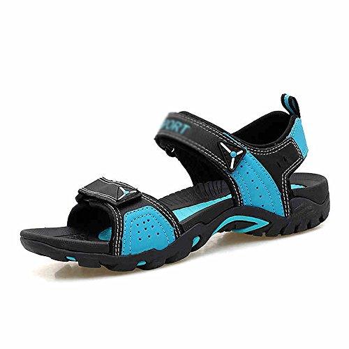 Sandals MAZHONG Men's Men's Summer Leisure Outdoor Beach Shoes Men's Thick-soled Non-slip Couple (Color : B, Size : EU41/UK7.5-8/CN42) A