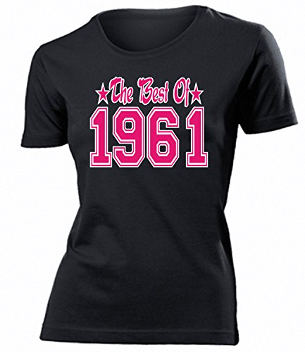 THE BEST OF 1961 - DELUXE - Birthday mujer camiseta Tamaño S to XXL varios colores Negro