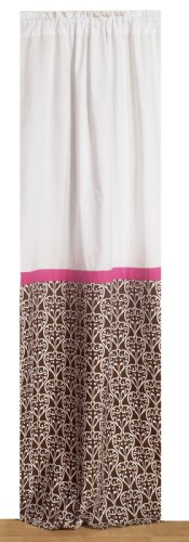 Bacati - Damask Pink/chocolate Curtain Panel