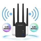 WiFi Range Extender, AC1200 WiFi Extender Dual Band 2.4&5GHz WiFi Signal Booster Wireless