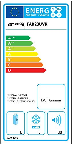 Smeg FAB28UVR 9.22 cu. ft. 50's Look Refrigerator - Pastel Green, Right Hinge